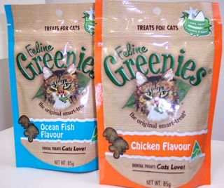 Cat greenies bags