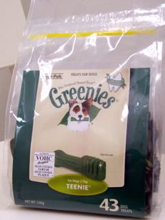 dog greenies treat pack
